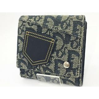 クリスチャンディオール(Christian Dior)の❤️️美品 正規❤️クリスチャンディオール 2つ折り財布 デニム ダブルホック(折り財布)