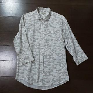 シマムラ(しまむら)のメンズL 7分袖シャツ リネン混 しまむら(シャツ)