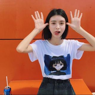 セブンパーセントモアピンク(7% more PINK)のセーラームーン インポート 海外セレブ 原宿 ストリート シャツ(Tシャツ(半袖/袖なし))