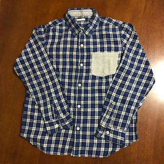 ジーユー(GU)の【中古】GU チェック綿シャツ サイズ150(ブラウス)