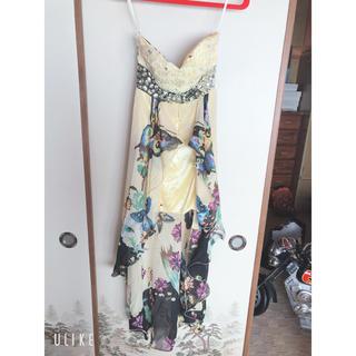 ジュエルズ(JEWELS)のキャバ ドレス juwels バタフライ イエロー ねもやよ ロングドレス(ロングドレス)