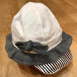コネクト(connect)のconnect  M  日よけ付き帽子  48センチ(帽子)