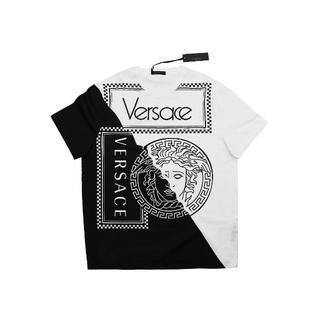ヴェルサーチ(VERSACE)のVERSACE カラーブロックメデューサプリントTシャツ 半袖 A0723(Tシャツ/カットソー(半袖/袖なし))