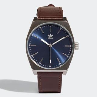 アディダス(adidas)の期間限定価格 新品 adidas 腕時計 男女兼用 革 茶色 CJ6345 防水(腕時計(アナログ))