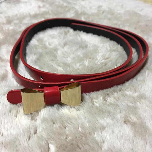 mystic(ミスティック)のミスティック リボン ベルト 赤 レディースのファッション小物(ベルト)の商品写真