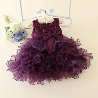 ベビードレス 子供ドレス キッズドレス お誕生日 結婚式 バブル層 パニエ不要(セレモニードレス/スーツ)