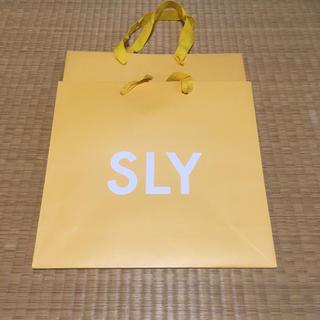 スライ(SLY)のSLY紙袋 2枚(ショップ袋)