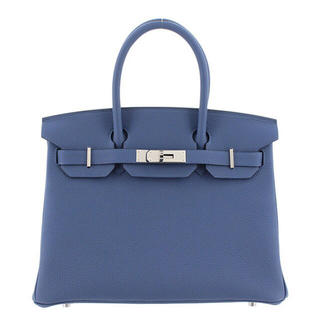 エルメス(Hermes)の新品 エルメス HERMES バーキン30 トゴ ブルーサフィール シルバー金具(ハンドバッグ)