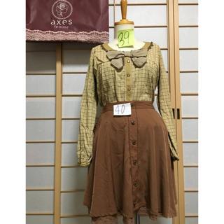 アクシーズファム(axes femme)のaxes femme トップス 39 スカート 40(カットソー(長袖/七分))