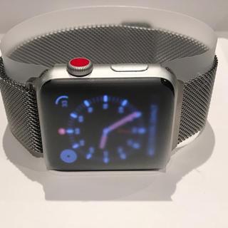 アップルウォッチ(Apple Watch)のApple Watch 3 GPS + Cellular 42mmアルミニウム(腕時計(デジタル))