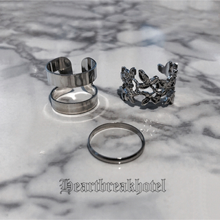 ♱ Vintage Silver metallic rings(リング(指輪))