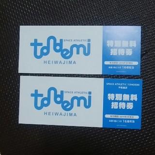 トンデミ平和島 特別無料招待券 2枚セット(その他)