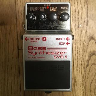 ボス(BOSS)のBOSS SYB5 ベースシンセ    マニュアル、元箱付属(ベースエフェクター)