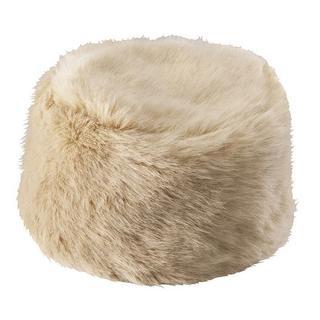 ジーユー(GU)の新品★ロシア帽フェイクファーキャップワッチベレー帽ベージュナチュラルメーテル帽子(ハンチング/ベレー帽)