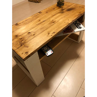 ローテーブル マガジンラック ブックシェルフ(ローテーブル)