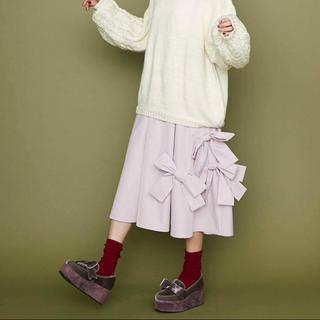 メリージェニー(merry jenny)のリボンタフタスカート(ひざ丈スカート)