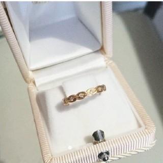 アガット(agete)のagate☆k18PG ダイヤ フリルドレスリング 8.5号(リング(指輪))