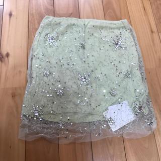 マーキュリーデュオ(MERCURYDUO)のMERCURYDUOのビジュータイトスカート(ミニスカート)