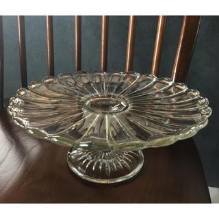 ケーキスタンド  アンティーク ヴィンテージ ガラス 食器 イギリス 雑貨(ガラス)