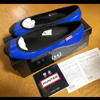 ハンター(HUNTER)のHunterハンターレインシューズローヒールパンプスUK3ロイヤルブルー雨靴(レインブーツ/長靴)