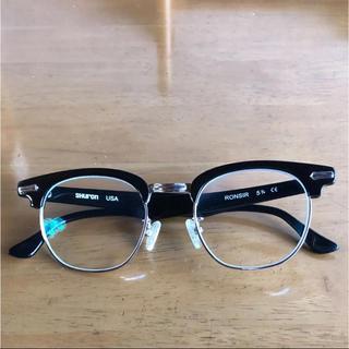 アヤメ(Ayame)の[値下げ中]SHURON RONSIR 眼鏡 メガネ ウェリントン サーモント(サングラス/メガネ)