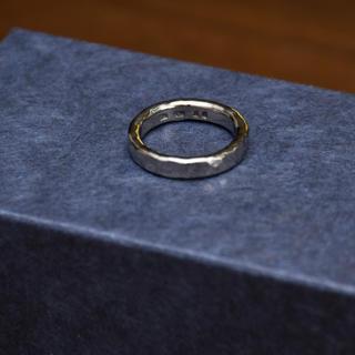 市松 シルバー リング ブラックゴールド 15号 エディフィス(リング(指輪))
