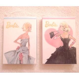 バービー(Barbie)のBarbie メモ帳 2つセット(ノート/メモ帳/ふせん)