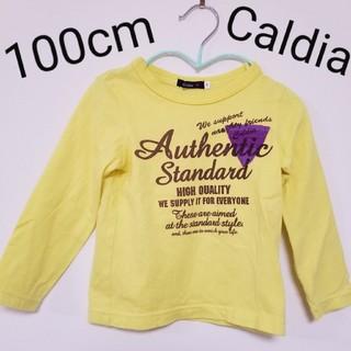 カルディア(CALDia)のCaldiaカルディア 長袖ロンTシャツ 男女兼用 イエロー黄色 プリント(Tシャツ/カットソー)
