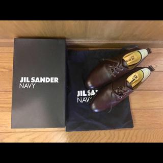 ジルサンダー(Jil Sander)のJIL SANDER NAVY【新品未使用】レースアップシューズ 36 1/2(ローファー/革靴)