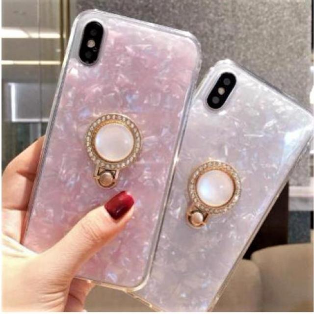 アイフォンケース☆リング付き☆スマホケース☆iPhone7.8.X☆2カラーの通販 by shima♡'s shop|ラクマ