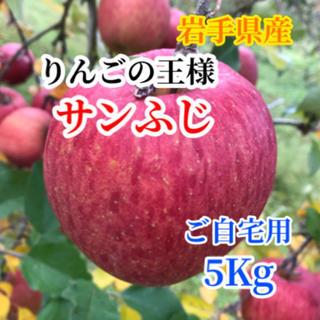 【送料込】サンふじ 5㎏ バラ詰め14〜18玉前後【農家直送】 (フルーツ)