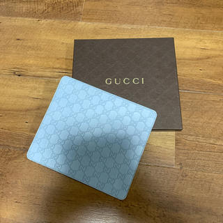 グッチ(Gucci)のグッチ GUCCI マウスパッド 水色 新品未使用(その他)