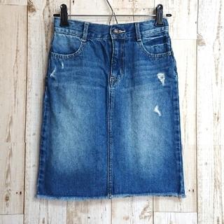 ジーユー(GU)のGU   デニムタイトスカート120cm(スカート)
