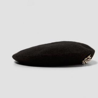 ザラ(ZARA)のZARA  ビジュー付き  ベレー帽  新品(ハンチング/ベレー帽)