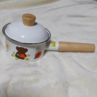フジホーロー(富士ホーロー)の富士ホーロー 片手鍋12cm プラスチック蓋付(鍋/フライパン)