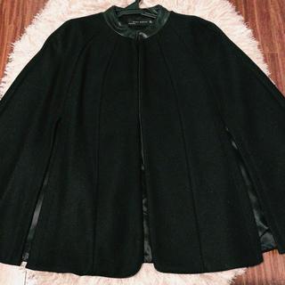 ザラ(ZARA)のZARA ケープコート S ブラック 美品♡(ポンチョ)