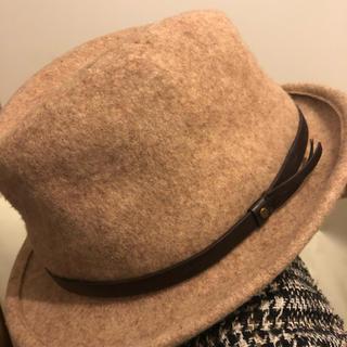 イッカ(ikka)のR2*S1様 ikka ニット素材 中折れハット 帽子(ハット)