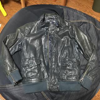 スコッチアンドソーダ(SCOTCH & SODA)のレザージャケット  本革 120 130センチ キッズ スコッチアンドソーダ(ジャケット/上着)