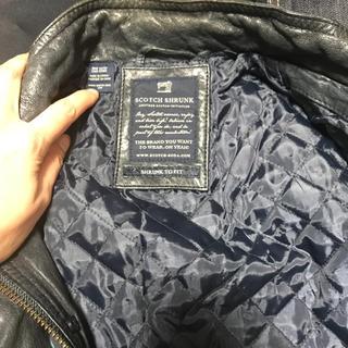 スコッチアンドソーダ(SCOTCH & SODA)のレザージャケット  本革 120 130センチ 画像確認(ジャケット/上着)