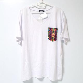 アナップ(ANAP)のA470 アナップ 半袖 Tシャツ フリーサイズ ホワイト(Tシャツ(半袖/袖なし))