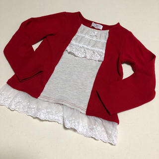 ウィルメリー(WILL MERY)のwill mery ウィルメリー☆カーディガン羽織り風カットソー120(Tシャツ/カットソー)