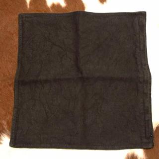 MUJI (無印良品) - 無印良品 リネン 麻 クッションカバー 黒