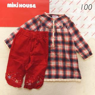 3f19974458e79 ミキハウス(mikihouse)の 2点セット 美品 100 ミキハウス 長袖 チュニック