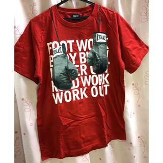 エバーラスト(EVERLAST)のビッグTシャツ 赤(Tシャツ/カットソー(半袖/袖なし))