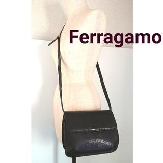 abbd6d76d704 Salvatore Ferragamo - 正規 フェラガモ オールド ビンテージ 斜め掛け ショルダーバッグ 茶 ブラウン