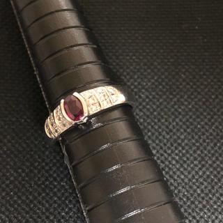厚 19-1 石付き ダイヤモンド デザインリング pt 900(リング(指輪))