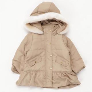 プティマイン(petit main)の新品 プティマイン  フリル中綿ロングコート 90(コート)