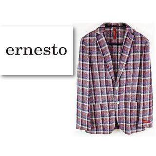エルネスト(ELNEST)の新品 【エルネスト】メランジ ネップ タータンチェック ジャケット 46サイズ(テーラードジャケット)
