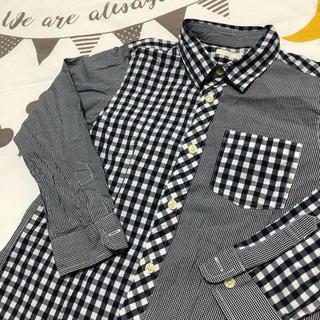ジーユー(GU)のGU ジーユー デザイン ギンガムチェックシャツ(ブラウス)