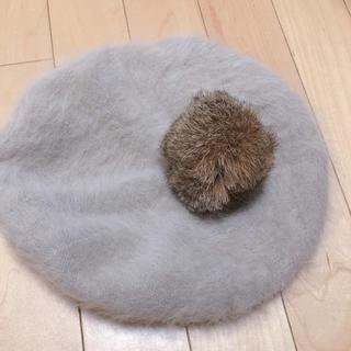 アースミュージックアンドエコロジー(earth music & ecology)のアンゴラ ニットベレー帽(ハンチング/ベレー帽)